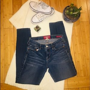 LUCKY BRAND Dark blue distressed skinny jeans, 8